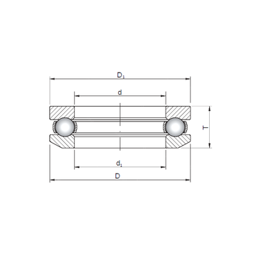 53411 ISO Thrust Ball Bearings