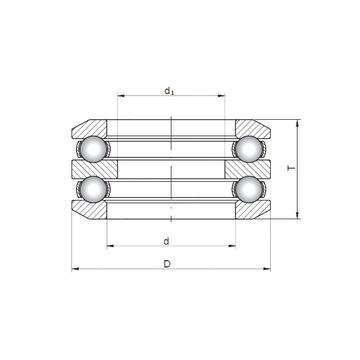 54410 ISO Thrust Ball Bearings