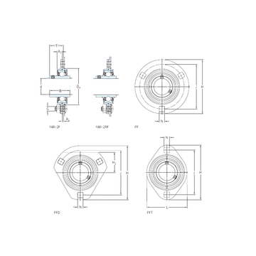 PFD 30 WF SKF Bearing Units