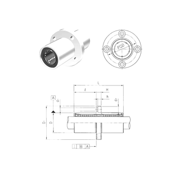 LMEFM60 Samick Linear Bearings