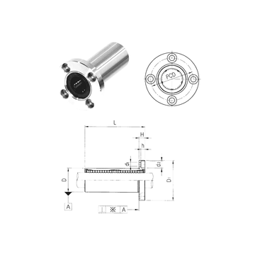 LMF8L Samick Linear Bearings