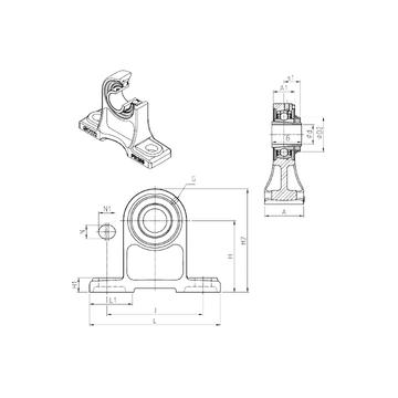 UKPH209H SNR Bearing Units