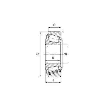 32213 CYSD Tapered Roller Bearings #1 small image