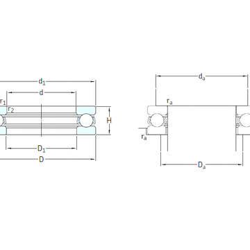 511/670F SKF Thrust Ball Bearings
