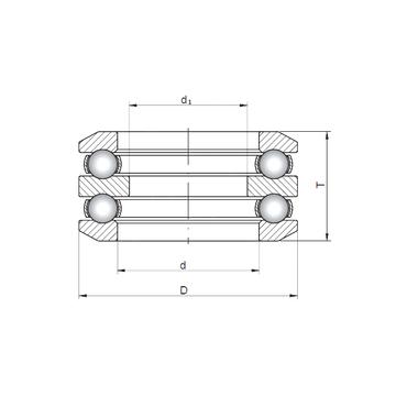 54320 CX Thrust Ball Bearings #1 small image