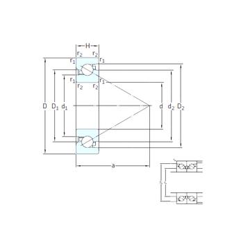 BS 40/72 7P62U SNFA Thrust Ball Bearings
