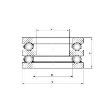 52312 ISO Thrust Ball Bearings