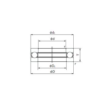 3917 NACHI Thrust Ball Bearings