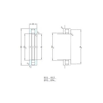 89309TN SKF Thrust Roller Bearings
