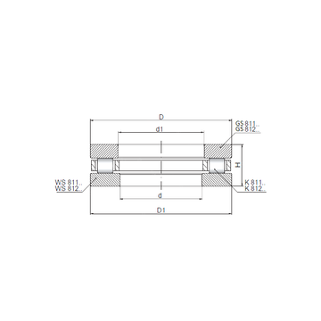 81112 CX Thrust Roller Bearings #1 small image