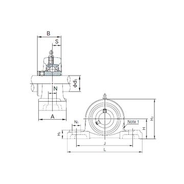 UCP305 NACHI Bearing Units
