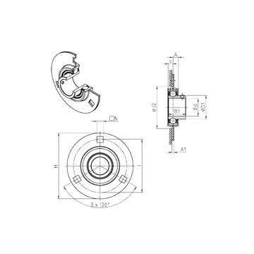 USPF201 SNR Bearing Units