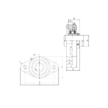 UCFL216 ISO Bearing Units #1 small image