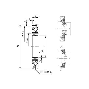 CRBF 5515 AT UU IKO Thrust Roller Bearings