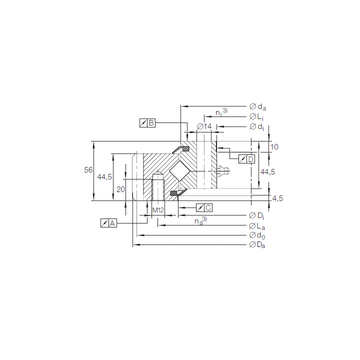 XSA 14 1094 N INA Thrust Roller Bearings #1 small image
