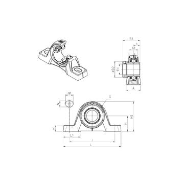 EXPE210 SNR Bearing Units #1 small image