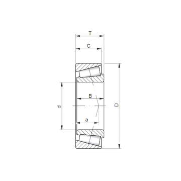 87750/87111 CX Tapered Roller Bearings #1 image