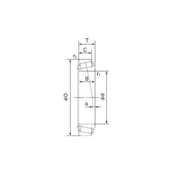 52400/52618 NACHI Tapered Roller Bearings #1 image