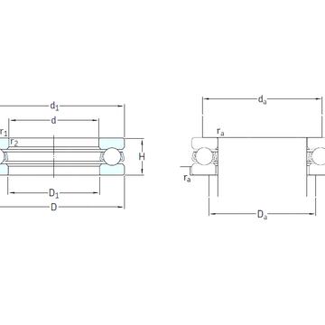 51130M SKF Thrust Ball Bearings #1 image