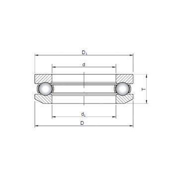 53411 ISO Thrust Ball Bearings #1 image