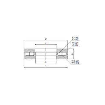 89438 CX Thrust Roller Bearings #1 image