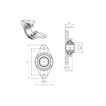 UKFL313H SNR Bearing Units #1 image