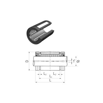 LMBS24UUOP Samick Linear Bearings #1 image