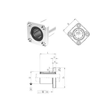 LMK25UU Samick Linear Bearings #1 image