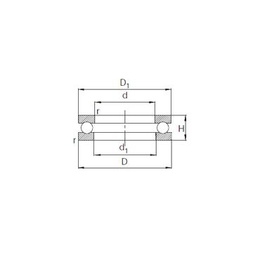 51108 KBC Thrust Ball Bearings #1 image