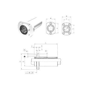 LMHP12LUU Samick Linear Bearings #1 image