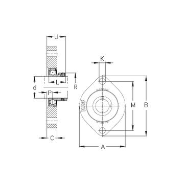 FLCTE40 NKE Bearing Units #1 image