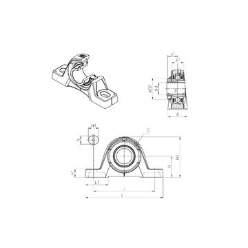 UKPE213H SNR Bearing Units #1 image