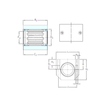 LUJR 40 SKF Linear Bearings #1 image